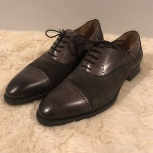 Magnanni Suede and Leather Oxfords